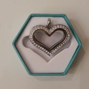 Swarovski Crystal Heart Locket
